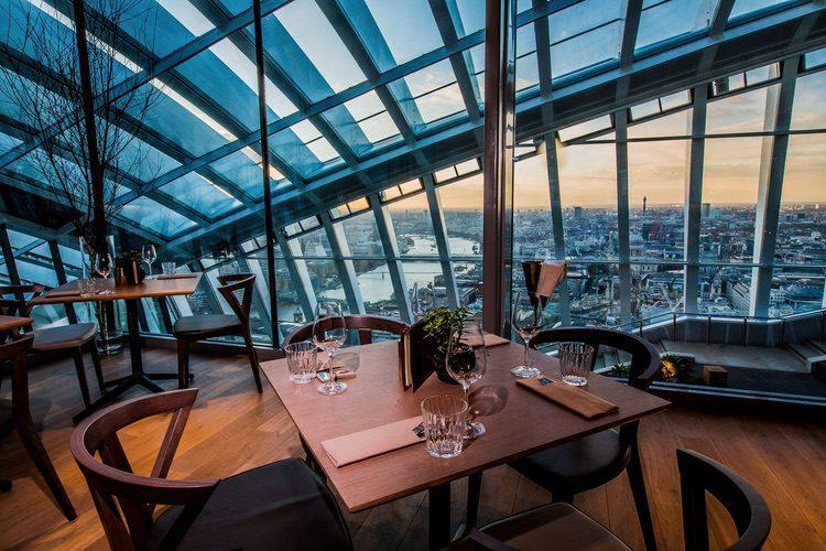 Darwin Brasserie, vistas desde el Sky Garden de Londres
