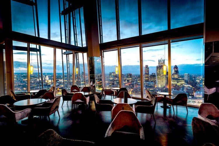 Aqua Shard, comiendo en el rascacielos más alto de Europa