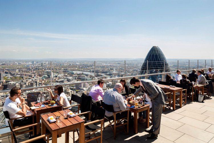 Sushi Samba, una de las terrazas más impresionantes de Londres