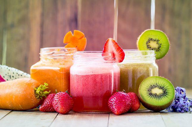 La mejor opción y la más sencilla de realizar es combinar las frutas y verduras <b>por colores