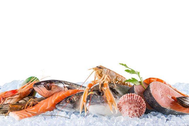 El marisco y el pescado pueden estar congelados hasta 6 meses