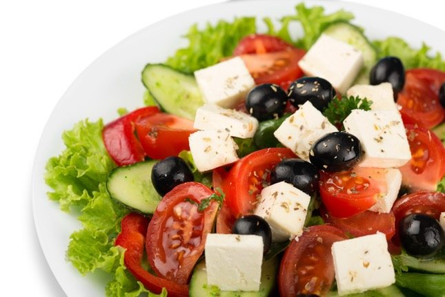 El queso feta es ideal para ensaladas