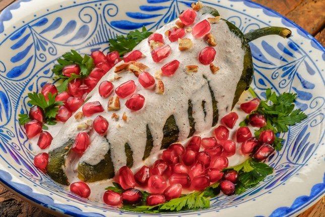 Chiles en nogada, un plato picante