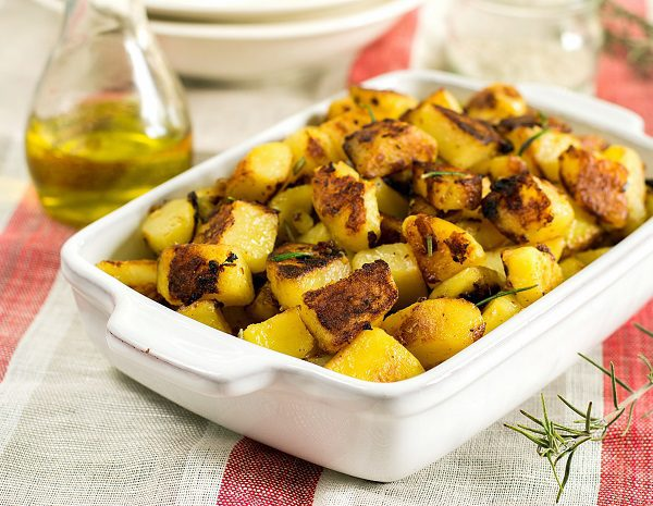 Patatas al microondas con textura al horno bekia cocina for Cocina al microondas