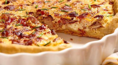 Quiche de calabacín y bacon