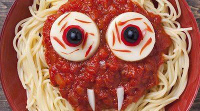 Spaghetti siniestros para Halloween