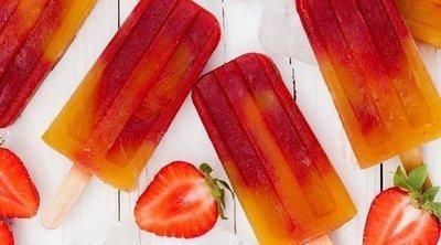 Polo de fresa y mango