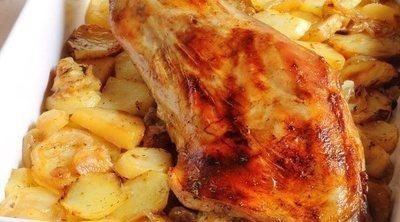 Ternasco asado con patatas