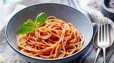 Espaguetis con boloñesa de soja