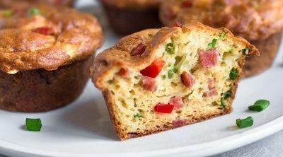 Muffins de verduras y bacon