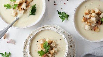 Sopa de patata con coliflor